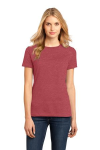 Hthrd Deep Red Ladies Perfect Weight Crew Tee